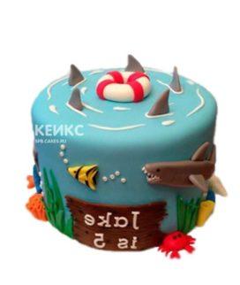 Торт Акулы и спасательный круг