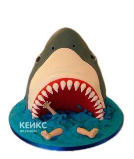 Торт в виде пасти акулы