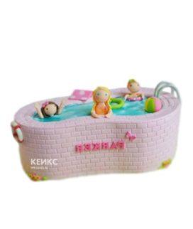 Торт бассейн с девочками