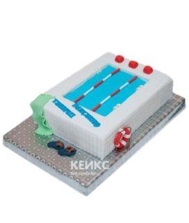 Торт в виде спортивного бассейна