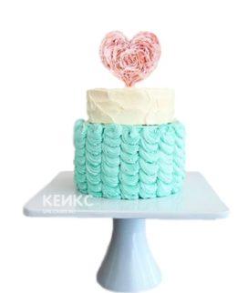 Торт бирюзовый 5