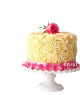 Торт букет разноцветных роз