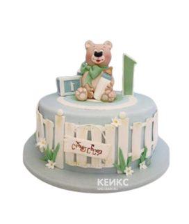 Недорогой детский торт с мишкой