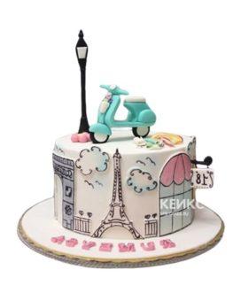 Торт с Эйфелевой башней на 15 лет девушке
