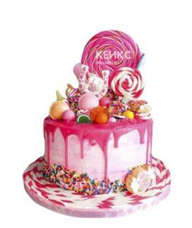 Торт со сладостями на 15 лет девушке