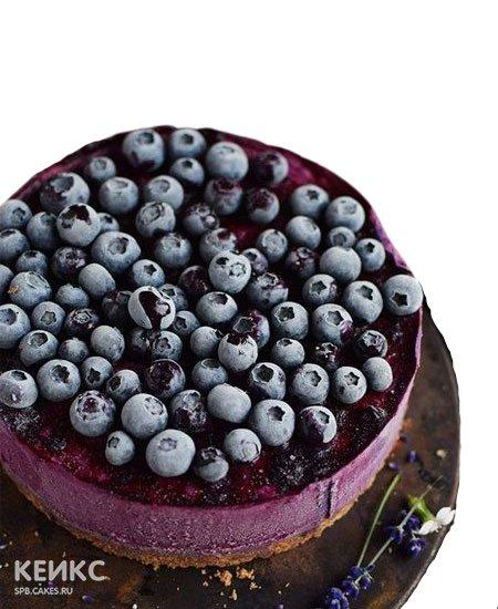 Йогуртовый торт для диабетиков с черникой