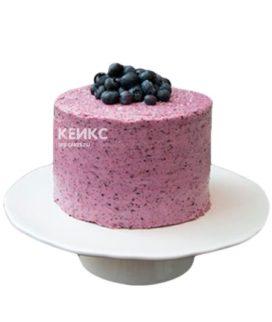 Фиолетовый торт с виноградом