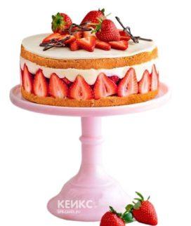 Французский торт фрезье с клубникой