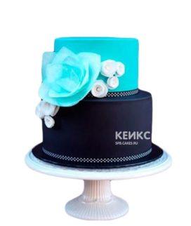 Сине-голубой торт