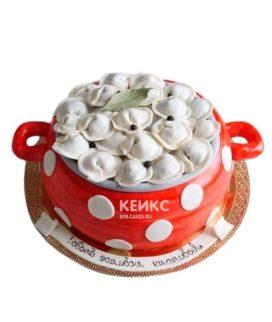 Торт кастрюля с пельменями