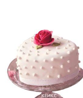 Торт на 8 марта с розой