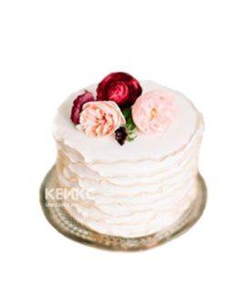 Торт на 8 марта с цветами