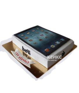 Торт в виде планшета с надписью