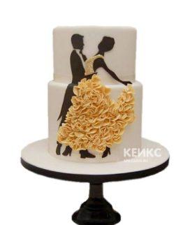 Торт девушка в желтом платье