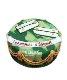 Купить эффектный зеленый торт с погонами на заказ в Москве: фото, цена