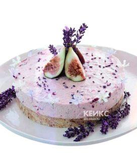 Торт постный с розовым кремом