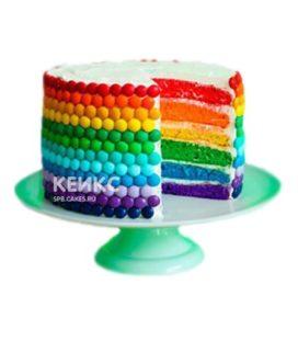 Радужный торт с драже