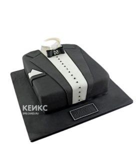 Торт белая рубашка и черный пиджак