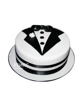 Черно-белый торт Рубашка с бабочкой