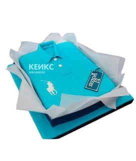 Торт синяя рубашка с белой эмблемой