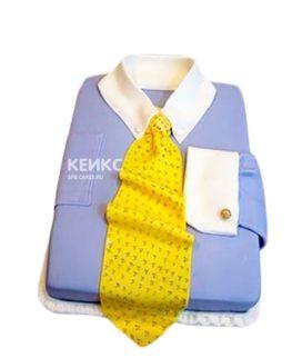 Торт рубашка с желтым галстуком
