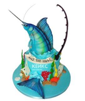 Торт рыба на крючке