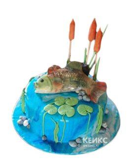 Торт рыба в камышах