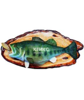 Торт в виде рыбы зеленого цвета