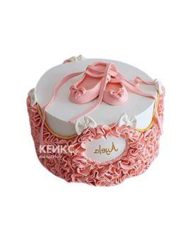 Торт балерина с розовыми пуантами