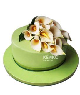 Торт с цветами (каллы) 6