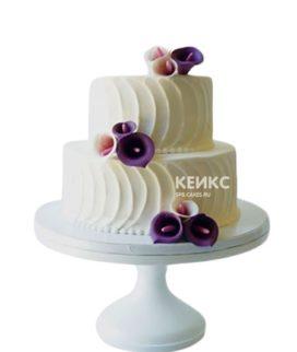 Торт с цветами (каллы)
