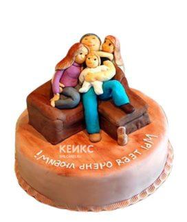 Торт мужчине семья на диване