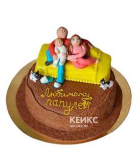 Желтый торт Семья