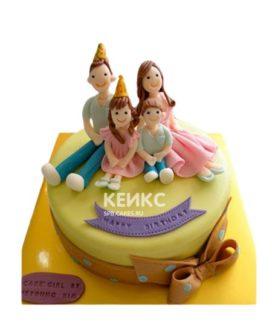 Торт семья