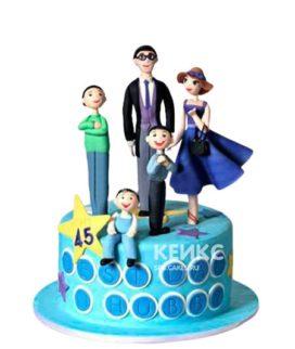 Синий торт Семья
