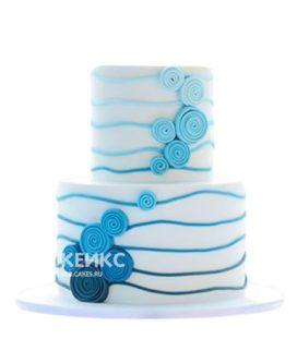 Торт синий 3