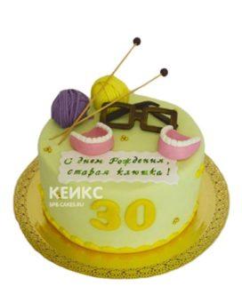 Желтый торт старая клюшка