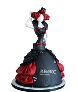 Торт в готическом стиле девушка в черном