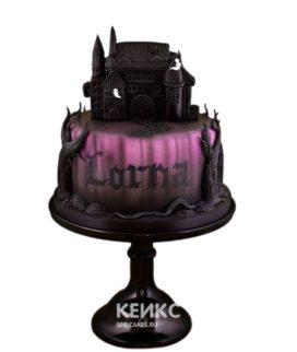 Торт в готическом стиле с черным замком