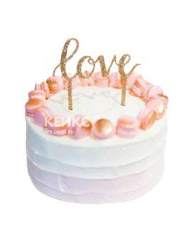 Торт омбре love