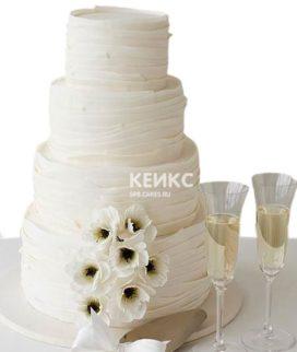Торт свадебный недорогой 3