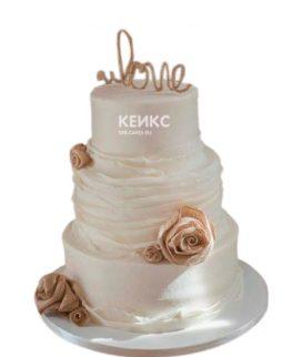 Торт свадебный недорогой 5