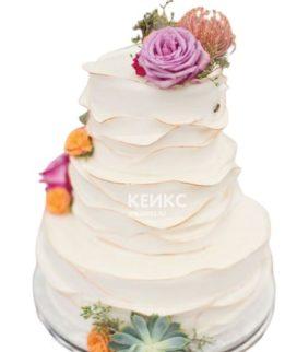Торт свадебный недорогой 7