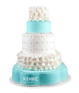 Торт свадебный тиффани