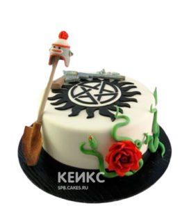 Торт сверхъестественное белого цвета