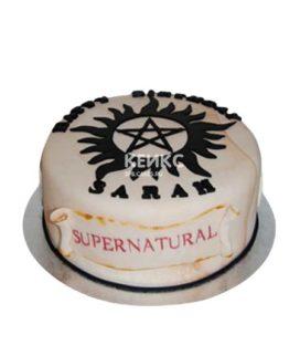 Торт сверхъестественное с надписью