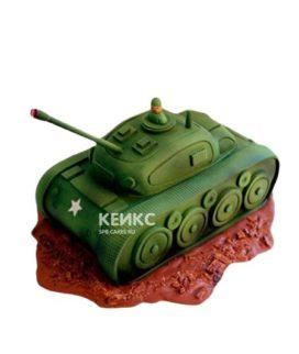 Торт в виде танка с открытым люком