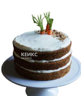 Веганский торт с фигурками морковок