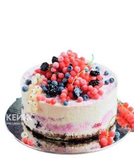 Вегетарианский торт с разными ягодами