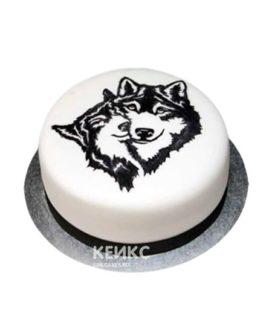 Торт с изображением двух волков